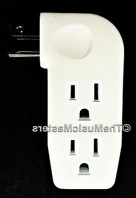 6X Triple 3 Outlet Grounded AC Wall Plug Power Splitter 3-Wa