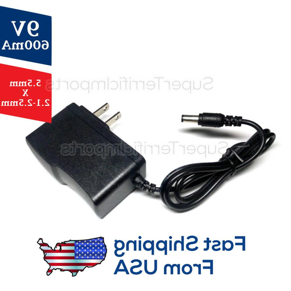 9V Supply Adapter 5.5mm x 600mA 400mA