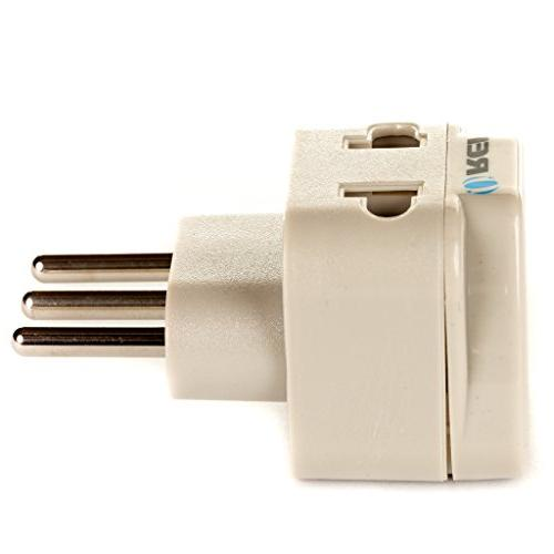 OREI Universal in Plug Adapter Type L Uruguay & more High Quality - Certified