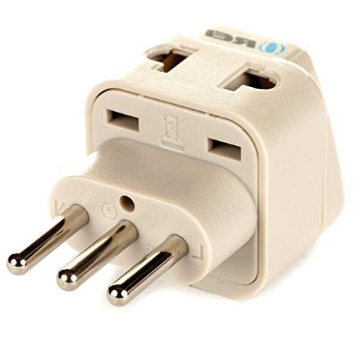 OREI Grounded Universal in 1 Plug Type L for Uruguay High Quality - CE Certified WP-L-GN