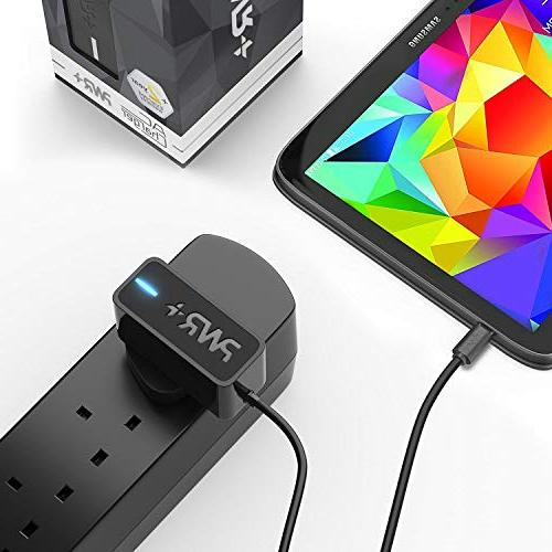 Pwr UL LONG 6.5 AC Adapter 2.1A Samsung-Galaxy S4 S7 Edge Plus Mini; II 4 J7; Tab 8.4 9.7 10.1 Pro Kids Pad Nook Alpha Exhibit Prime Round Proclaim Brightside / Motorola Moto G6 Play Droid Razr G X X G4 K8 ONE DNA 9 Player ONE Cell-Phone-Tablet-Charger AC