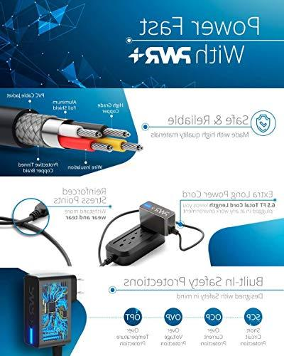 Pwr LONG Ft Adapter Samsung-Galaxy S4 II III 3 4 J7; 3 Kids Alpha Exhibit Centura Round Proclaim Mega Motorola Moto G6 Droid G X / LG X G2 G3 G4 / ONE DNA / Nexus 9 Player ONE A9 M9 AC Power