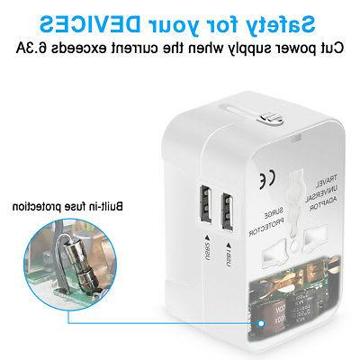 Universal In Power Socket Plug USB