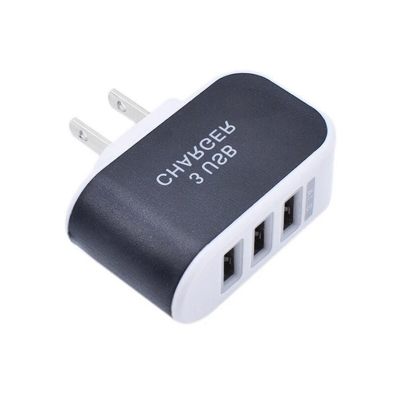 AC Wall Outlet To USB Socket 3 home Fast Charger