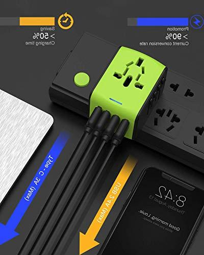 Travel Travel Plug Adapter, Adapter USB 1 for UK, EU, US, AUS, and More 170 Countries