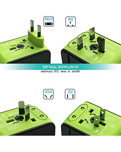 Travel Adapter, Travel Plug International Adapter with 3.4A 3 USB & 1 Type-C, for AUS, Countries