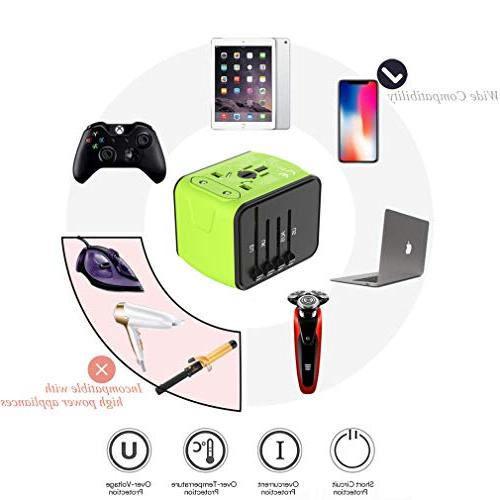 Travel Plug Adapter, Travel Adapter, Travel Power Plug Power Adapter USB 1 for AUS, and More 170 Countries