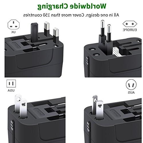 Travel Adapter, in Travel Adapter Wall Power Dual USB Charging for USA AUS,