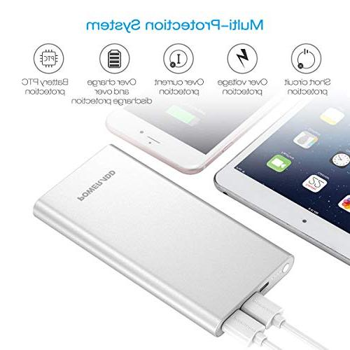 Poweradd Pilot Portable Battery Charger 3A High-Speed for iPhone, iPad, More - Silver