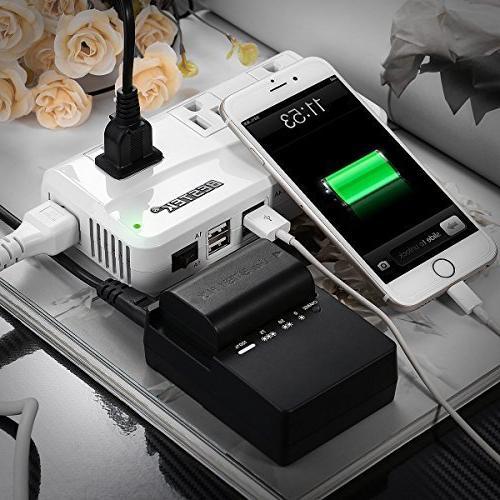 BESTEK 220V to Voltage Converter USB Charging and UK/AU/US/EU Worldwide Plug