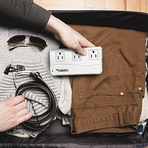 BESTEK Universal Travel Adapter 220V 110V Converter 6A 4-Port USB UK/AU/US/EU Worldwide Plug