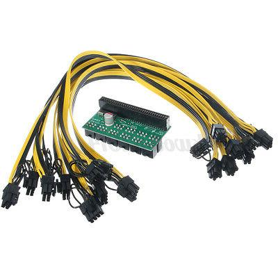 DPS-1200FB Adapter 10x 8Pin PCI-E 50cm For Ethereum Mining