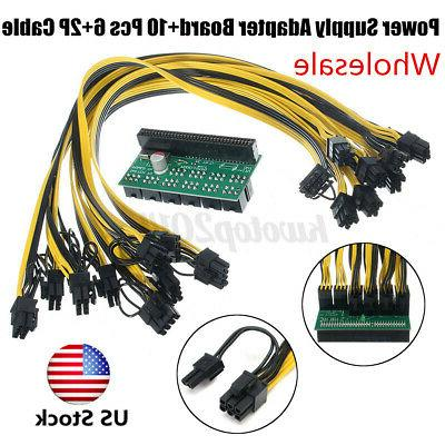 DPS-1200FB Power 10x 6 PCI-E Cable For Ethereum