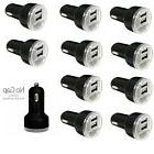 LOT 10 Dual USB 2 Port Car Charger 2.1A BLACK Power Adapter
