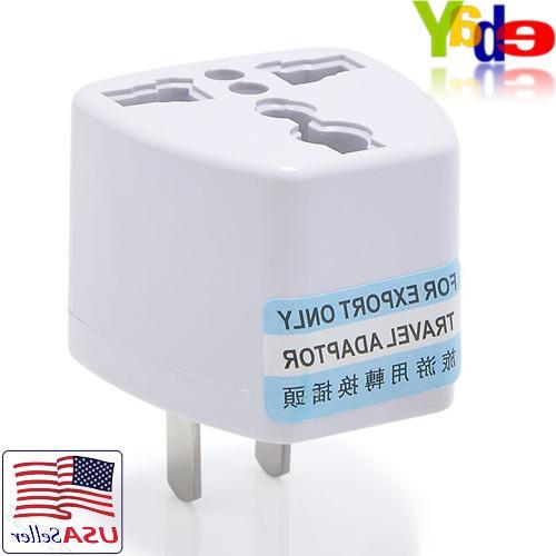 EU/UK/AU to AC Power Wall Plug 2-Pin Adapter Universal
