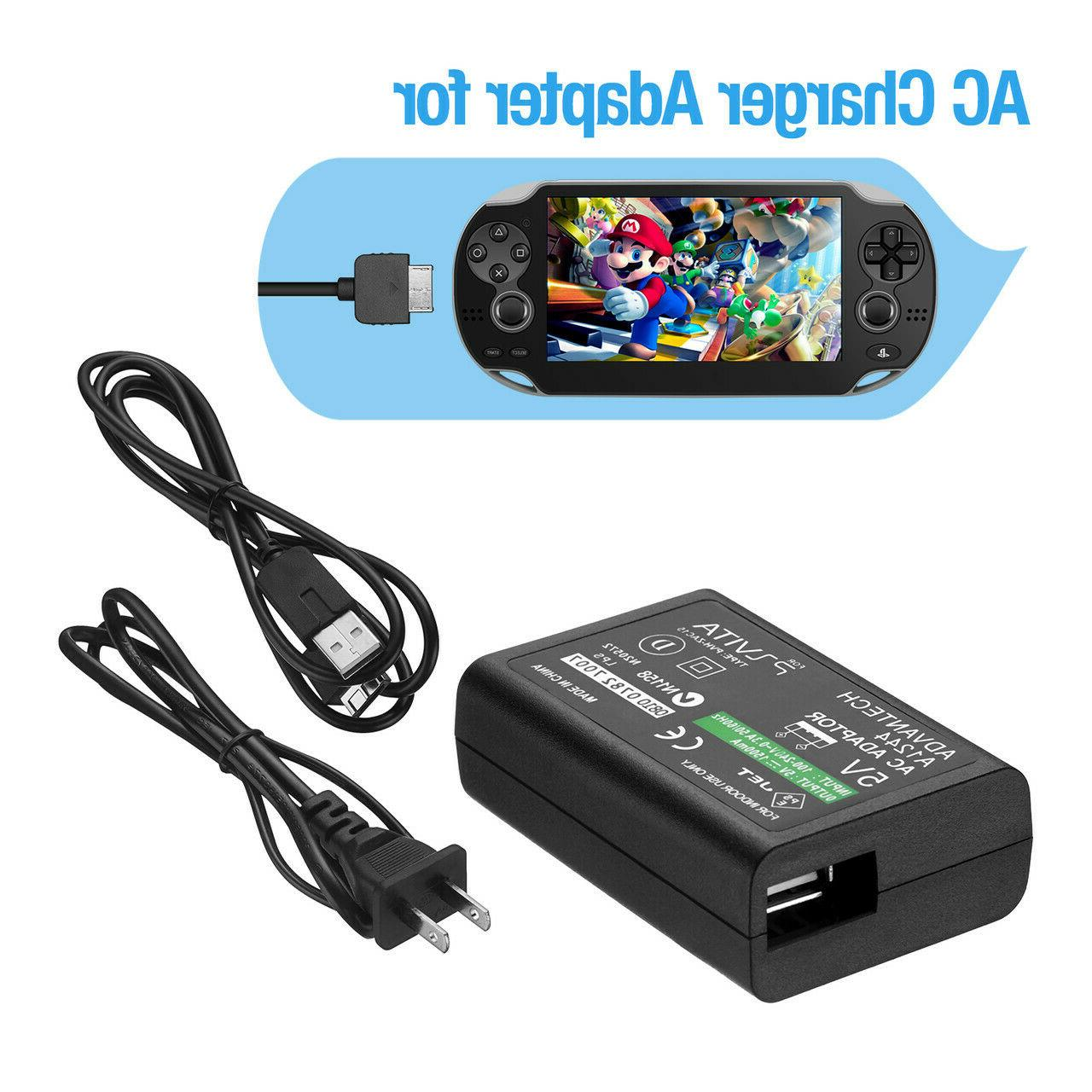 Home Charger Adapter Power Data Cable PS Vita