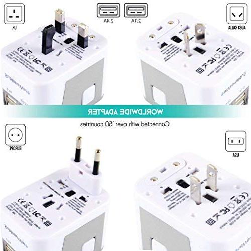 Power Plug Adapter International Travel - Ports for Countries 220 Adapter Travel Adapter Type Type f UK China EU by SublimeWare