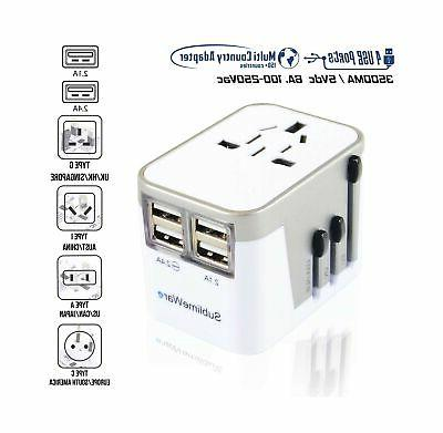 international power adapter usb wall
