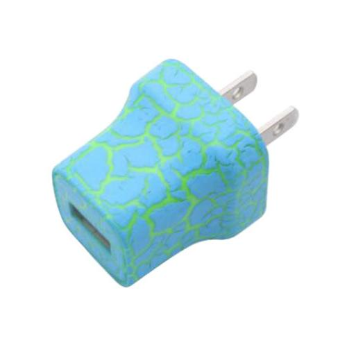 LED Light Up USB Wall Charger US 5V 1A Adapter For