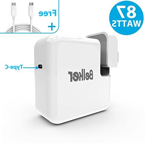 87W Macbook Charger,USB C Power Adapter for Apple