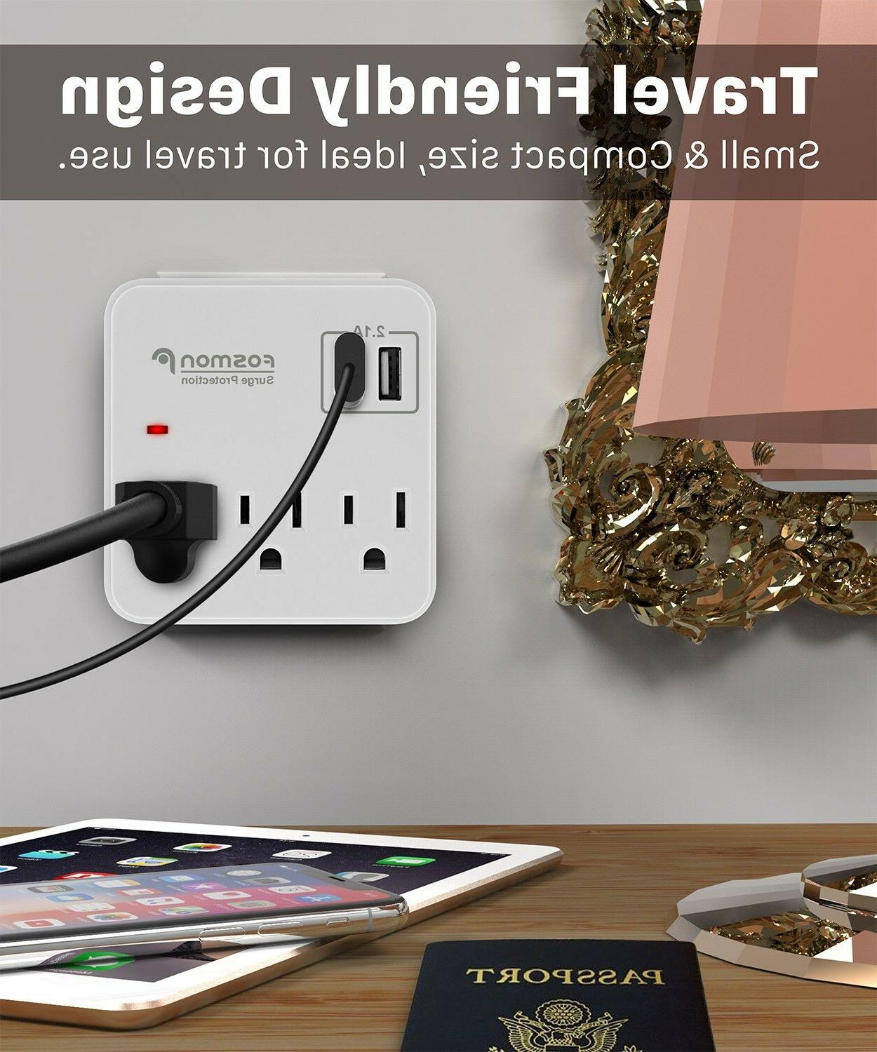 3 Outlet Protector Power Charger -2 PACK