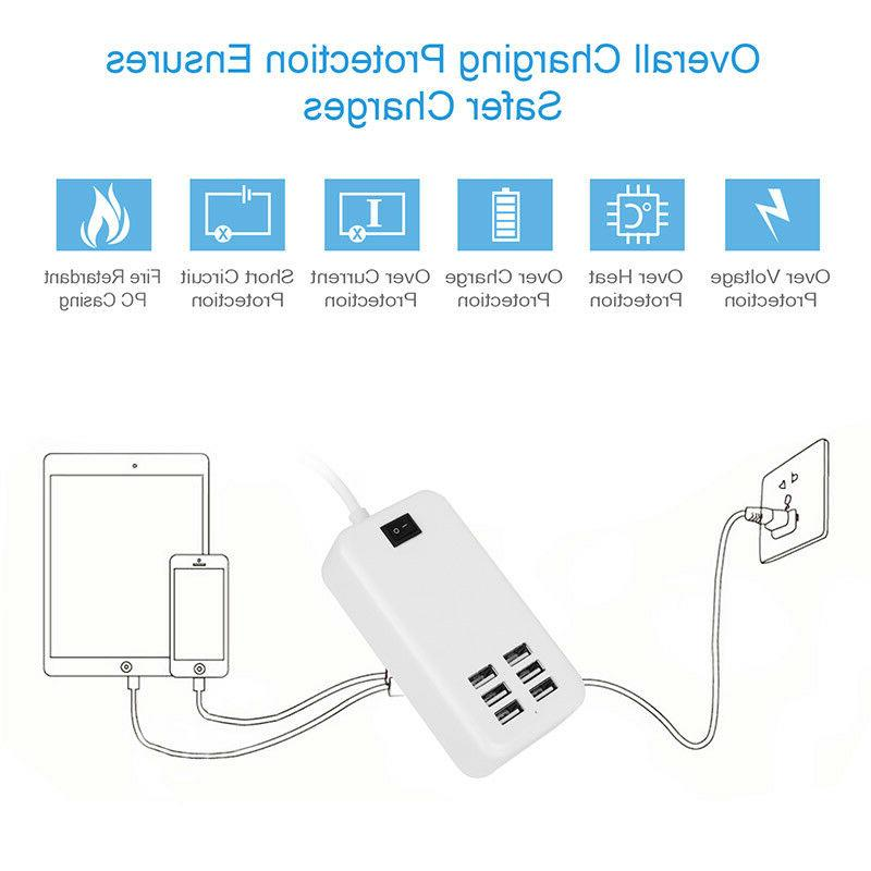 Multiple Travel Wall Charger Power Adapter For Android Samsung