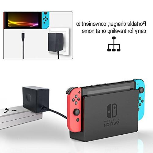 AC Nintendo YCCTEAM Supply 15V 2.6A Fast Charging Switch Dock Pro Controller ,Black