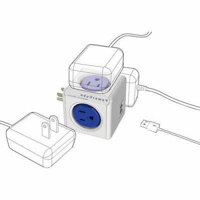 PowerCube USB 4 Outlet Power with Dual USB -