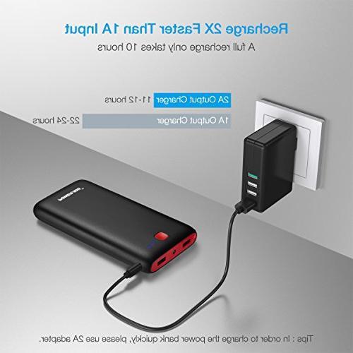 USB Port External Pack LED Flashlight Portable Charger XS Plus, iPad Galaxy S9 More