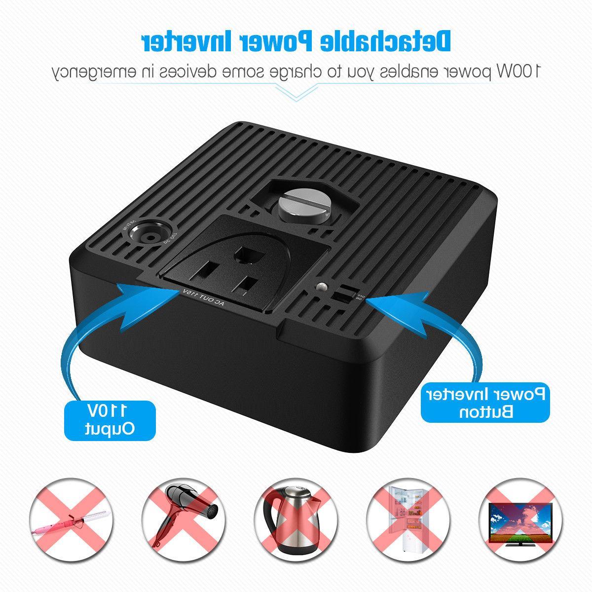 Poweradd 100000mAh Portable DC/AC AC &
