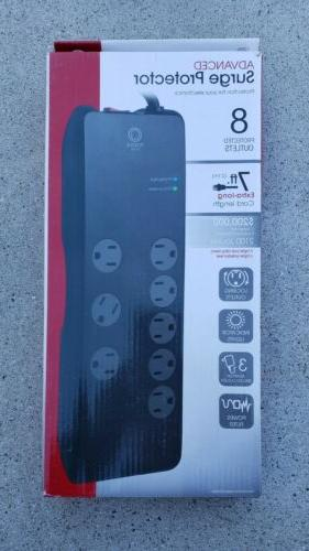 power gear 8 outlets avanced surge protector