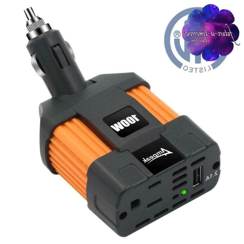 Power Inverter Car Cigarette Lighter Outlet Plug In Adapter