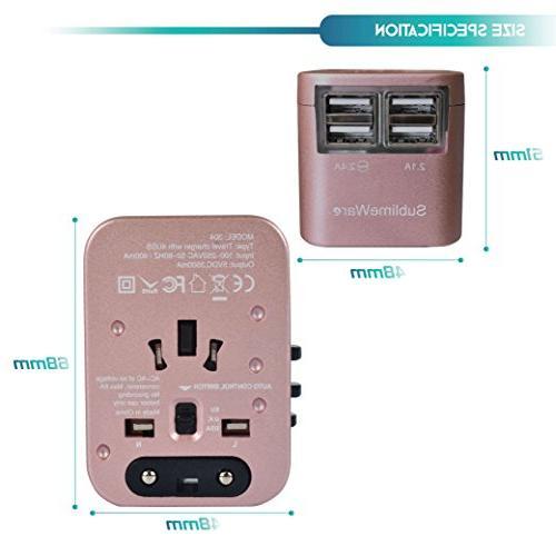 Power Plug International Travel USB Ports 150+ Volt Adapter - Travel Adapter C A Type I UK China EU
