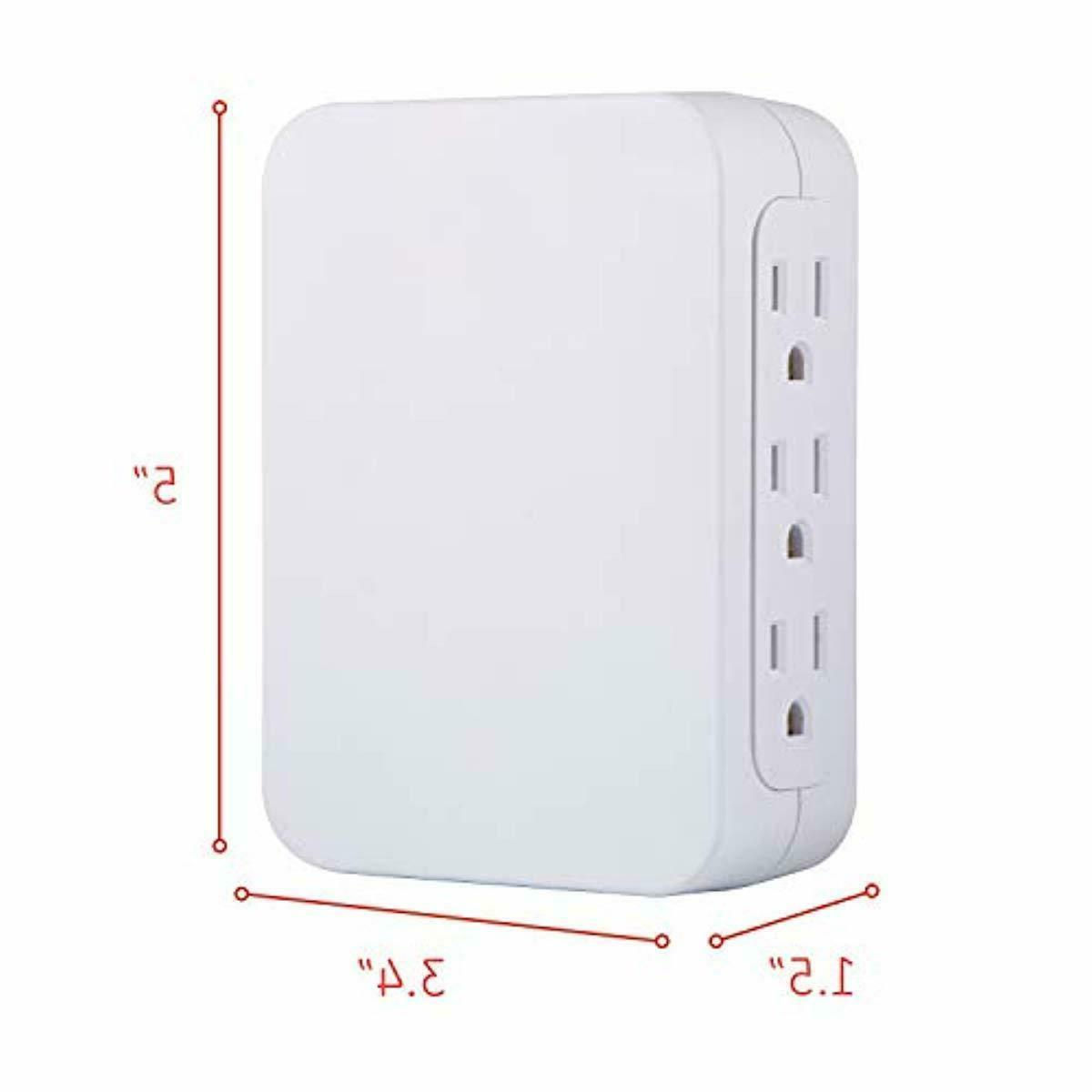 GE Pro 6 Wall Tap Side Power Adapter,