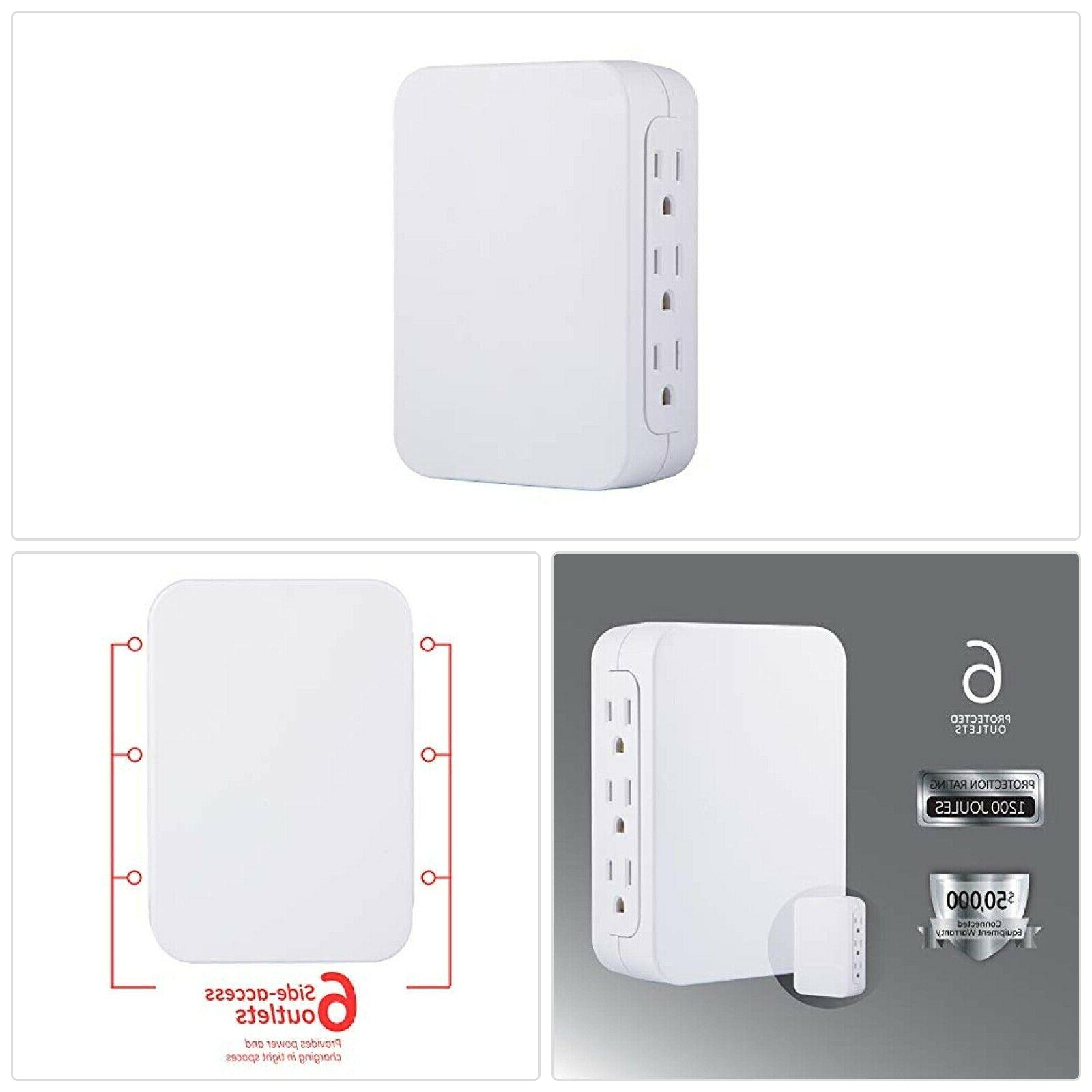 pro 6 outlet wall tap sur protector