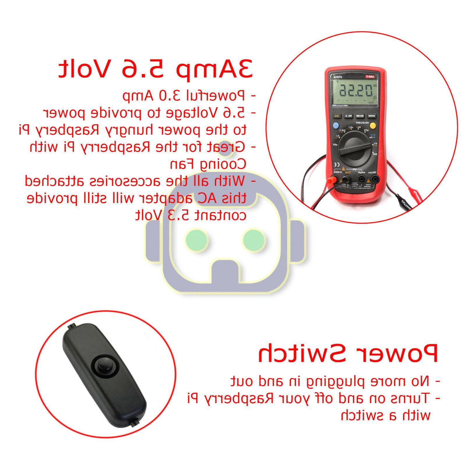 Raspberry Pi 3 Power 3000mA USB