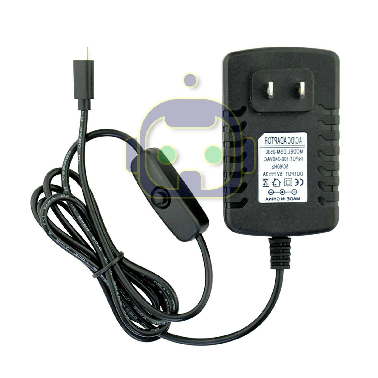 Raspberry Pi 3 Power Supply 3000mA Micro USB Charger Adapter