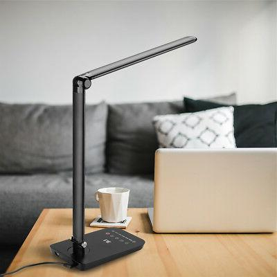 8W Sensor 84 LED Light Folding Desk Table Reading Book Lamp+Power