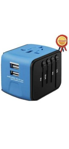 Travel Adapter All-in-one International Power Adapter with 2