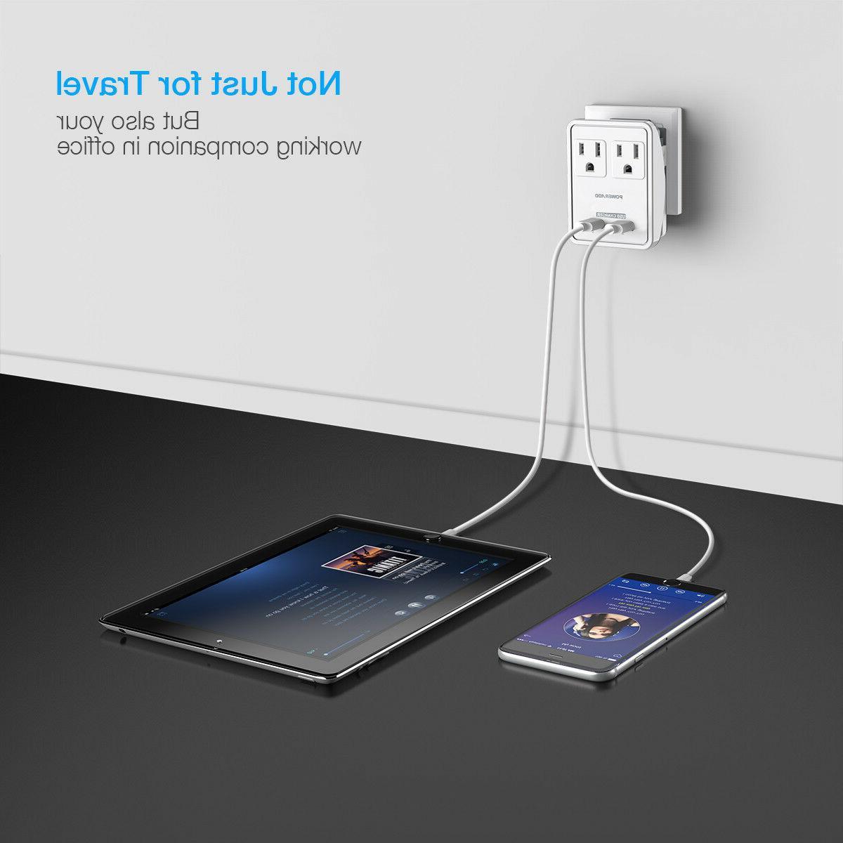 Poweradd Travel Power Dual USB Worldwide Wall