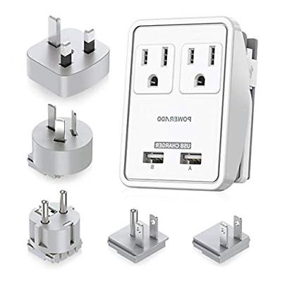 POWERADD Travel Power Adapter Kits - Dual 2.4A USB Ports + 2