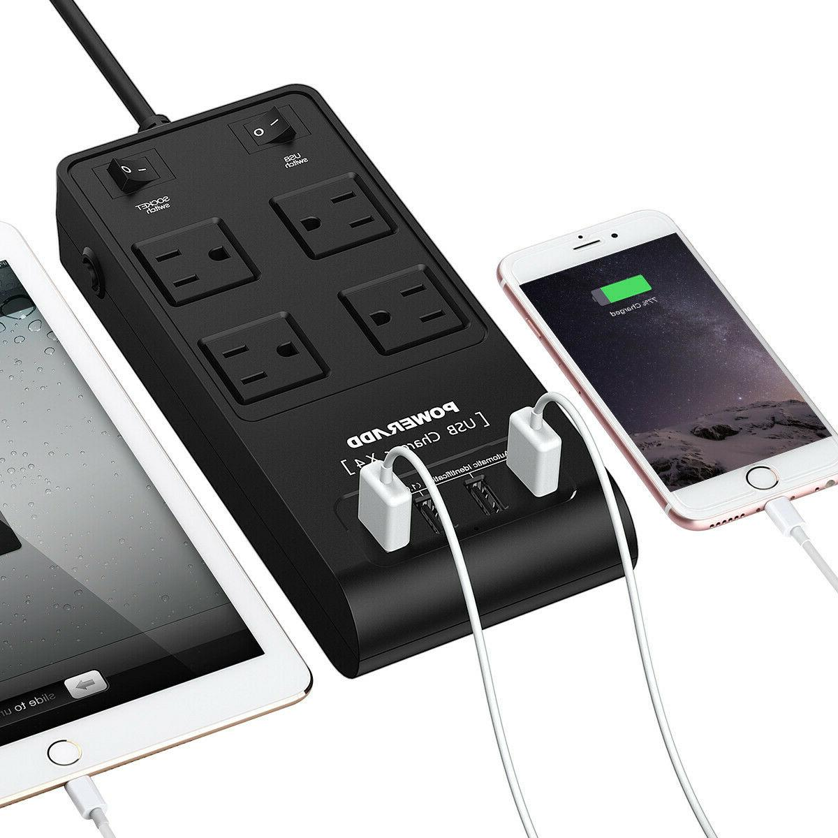Travel Power 4 Ports Protector Adapter