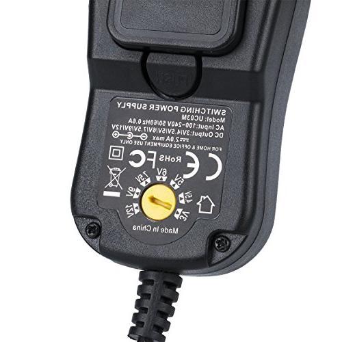 Travel Plug 24W Universal Adapter, UK, HK, Asia DC for Europe UK -