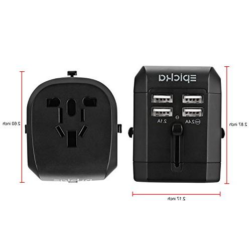 Universal USB Power Adapter-EPICKA All One Wall Charger EU UK AUS Phone Laptop Charging