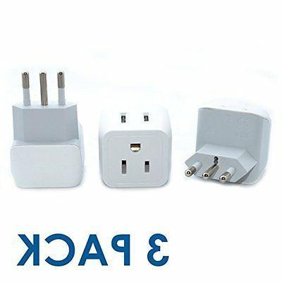 Ceptics USA Italy Power Converters Travel Adapter Plug Type
