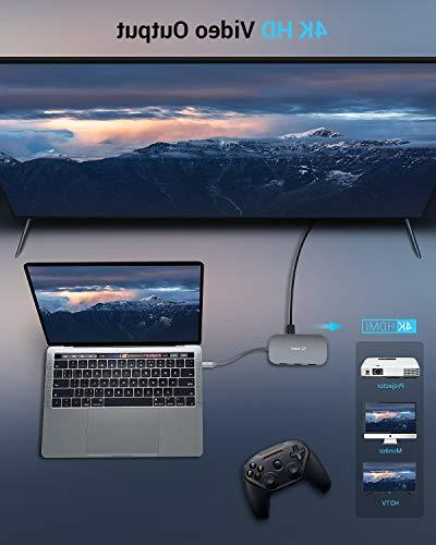 USB C 8-In-1 with Ethernet Port, 4K USB C to HDMI, 2 USB 3.0 1 Mac Pro