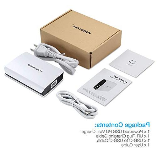 POWERADD C Wall Charger, 52W Desktop Charging USB C Plus, 5X 6P, Pixel More