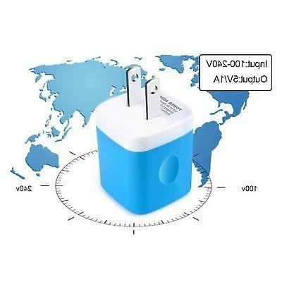 V-8 Wall Plugs 5W Single Wall Charger Power Adapter Cube Bl...