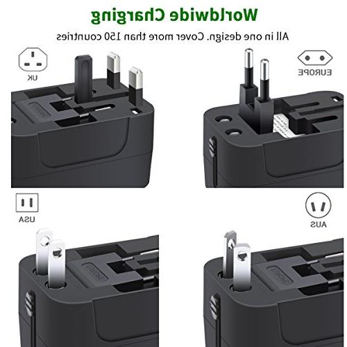 NEWVANGA International All in Worldwide Adapter Wall Charger Power Dual USB Charging for USA AUS Cell Laptop