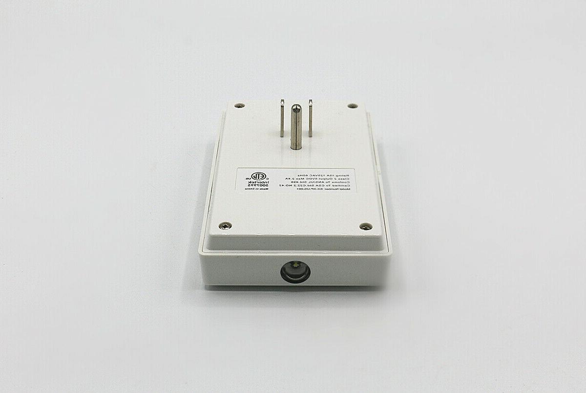 Wall Night Light Adapter & Dual Socket Dock